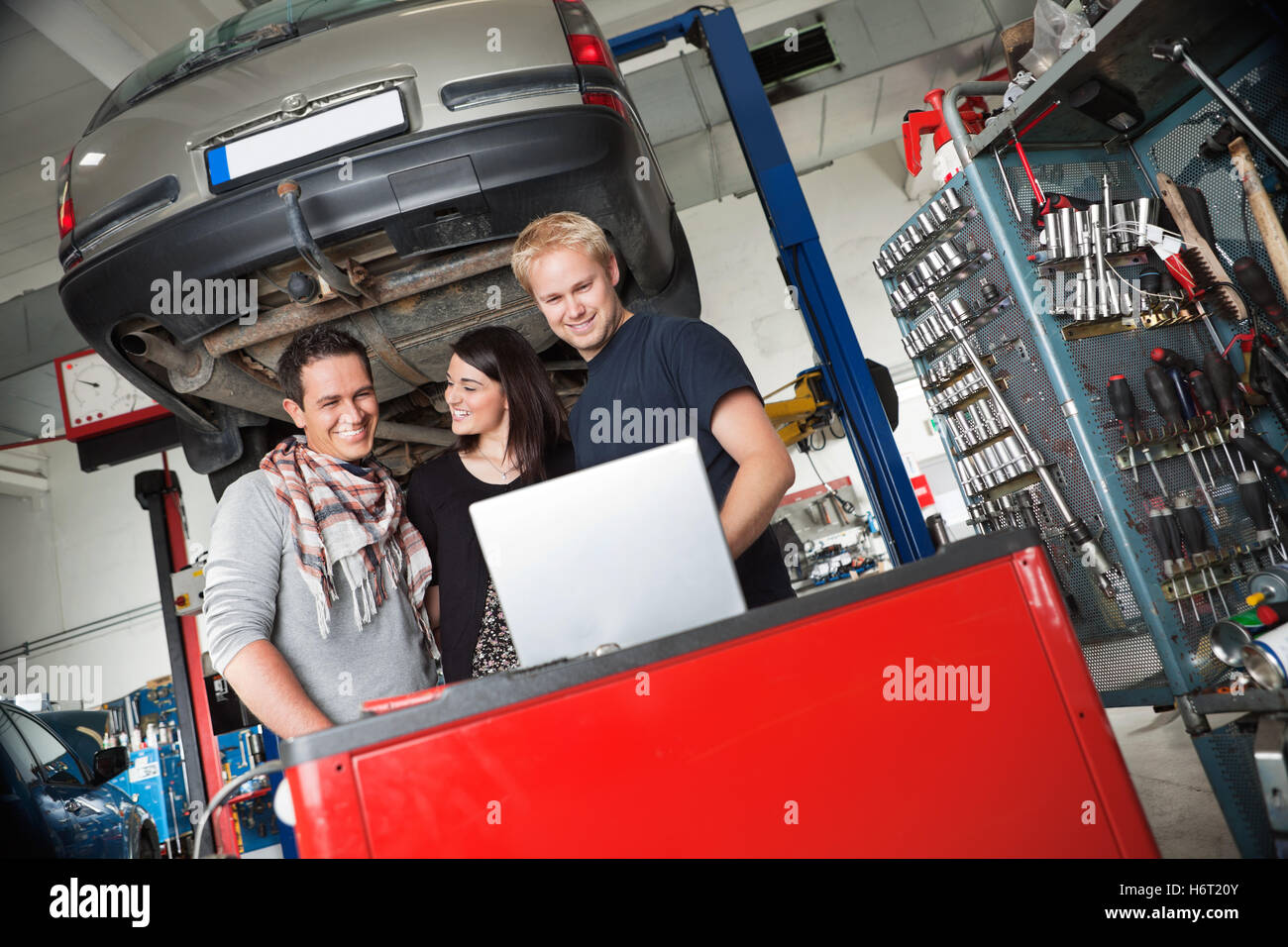 woman railway locomotive train engine rolling stock vehicle means of travel humans human beings people folk persons Stock Photo