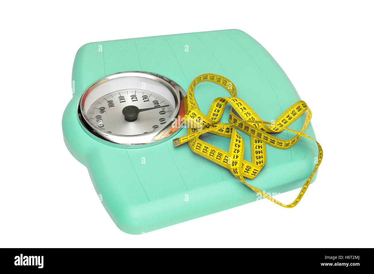 balance weight control scale bathroom thick wide fat care blue object isolated colour lifestyle balance mass weight - Stock Image
