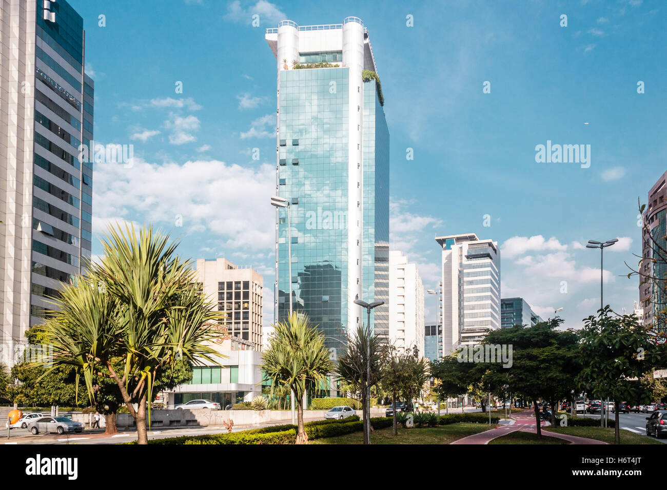 Photo of Buildings and Streets of Sao Paulo, Brazil (Brasil) - Stock Image