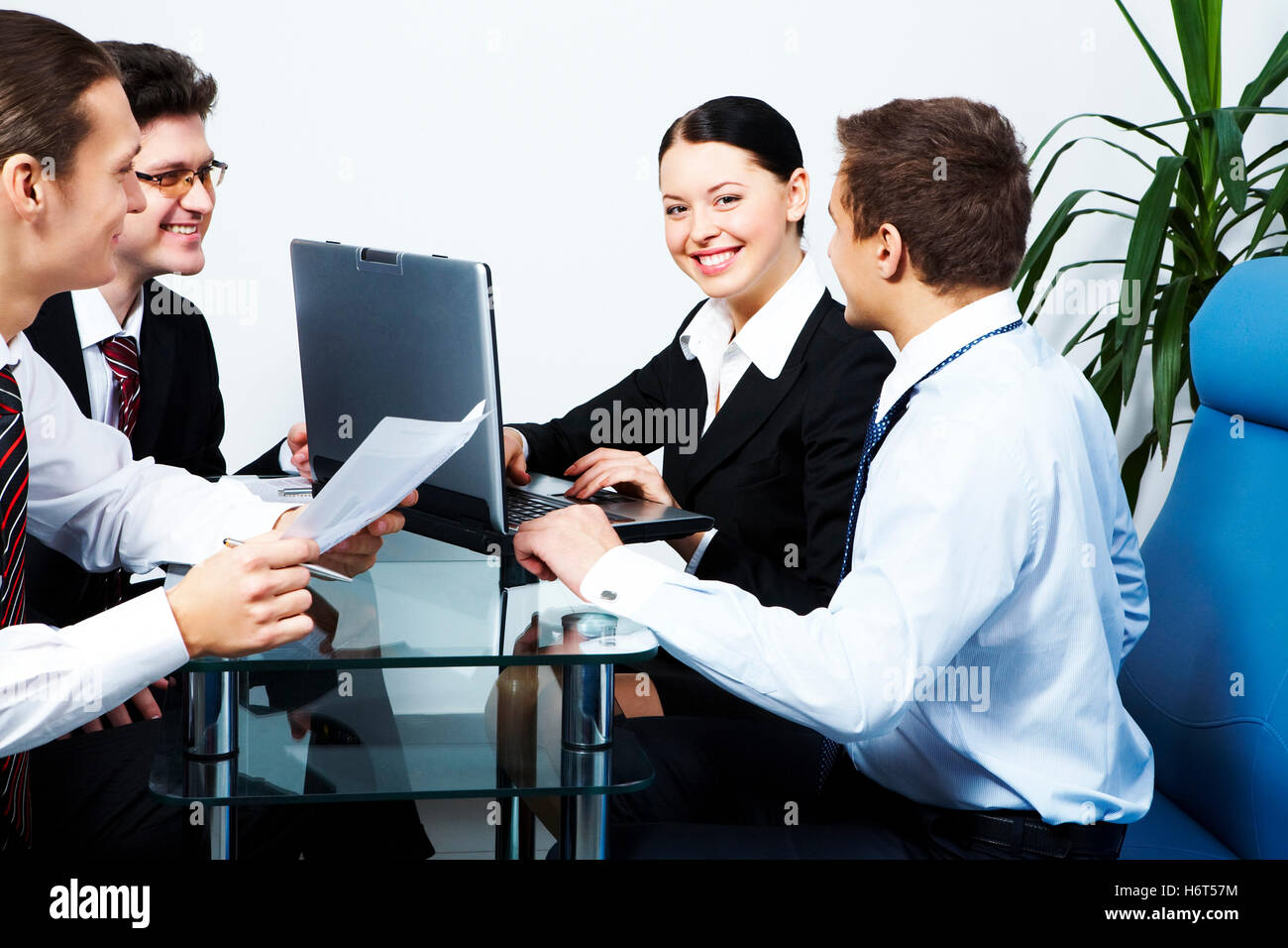 woman humans human beings people folk persons human human being some several a few laptop notebook computers computer - Stock Image