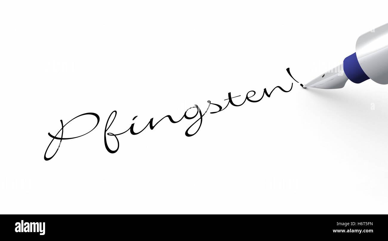 pen concept - pentecost! - Stock Image