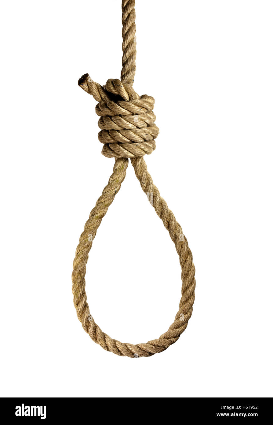 gallows, suicide, justice, snare, hangman, sentence of death, capital - Stock Image