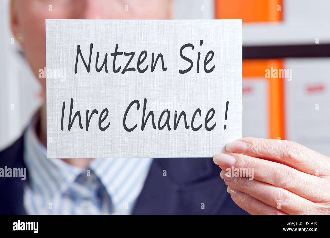 take your chance! - Stock Image