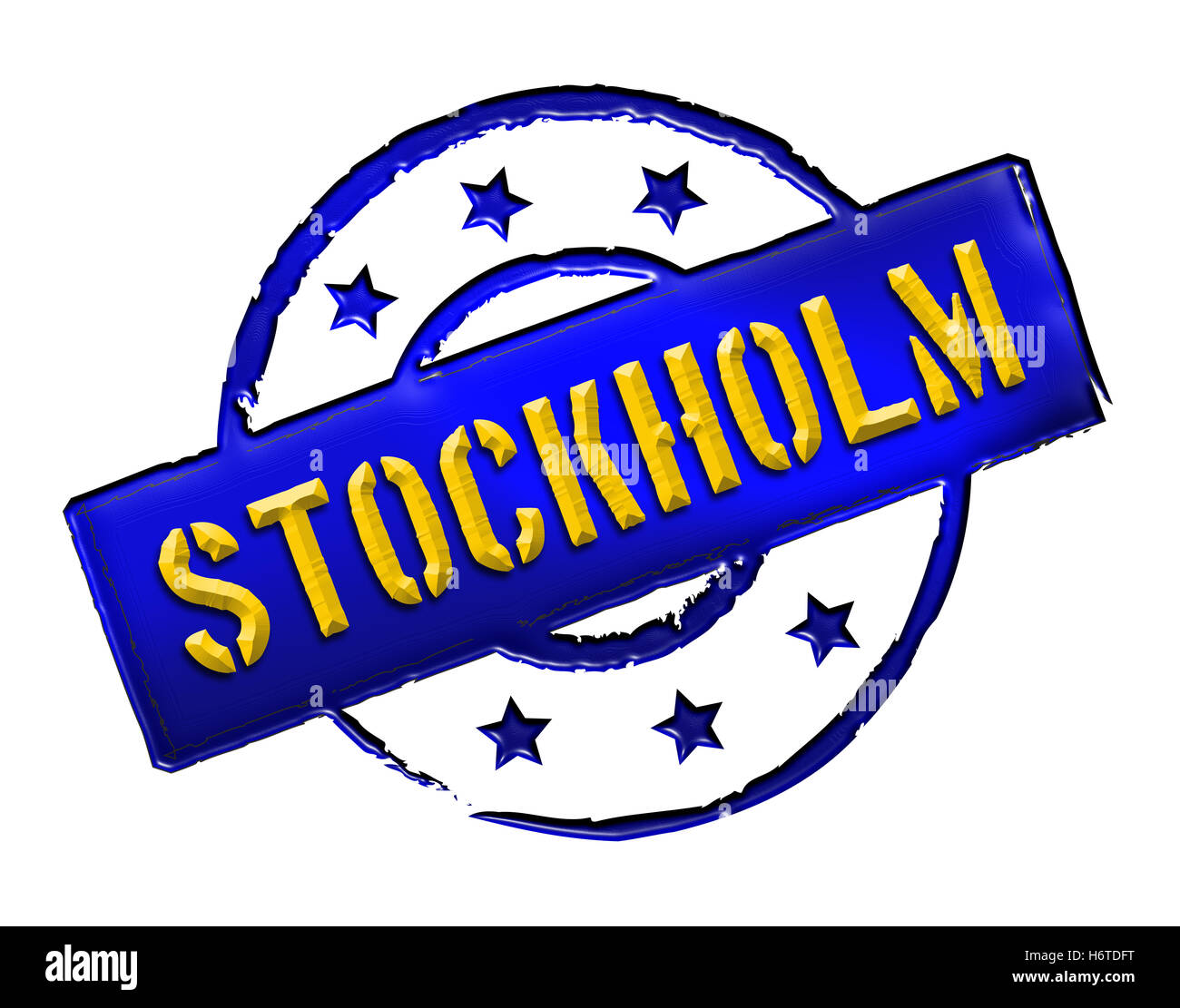 sweden stockholm stockhom capital suede isolated sweden caution important abstract stockholm stockhom retro label - Stock Image