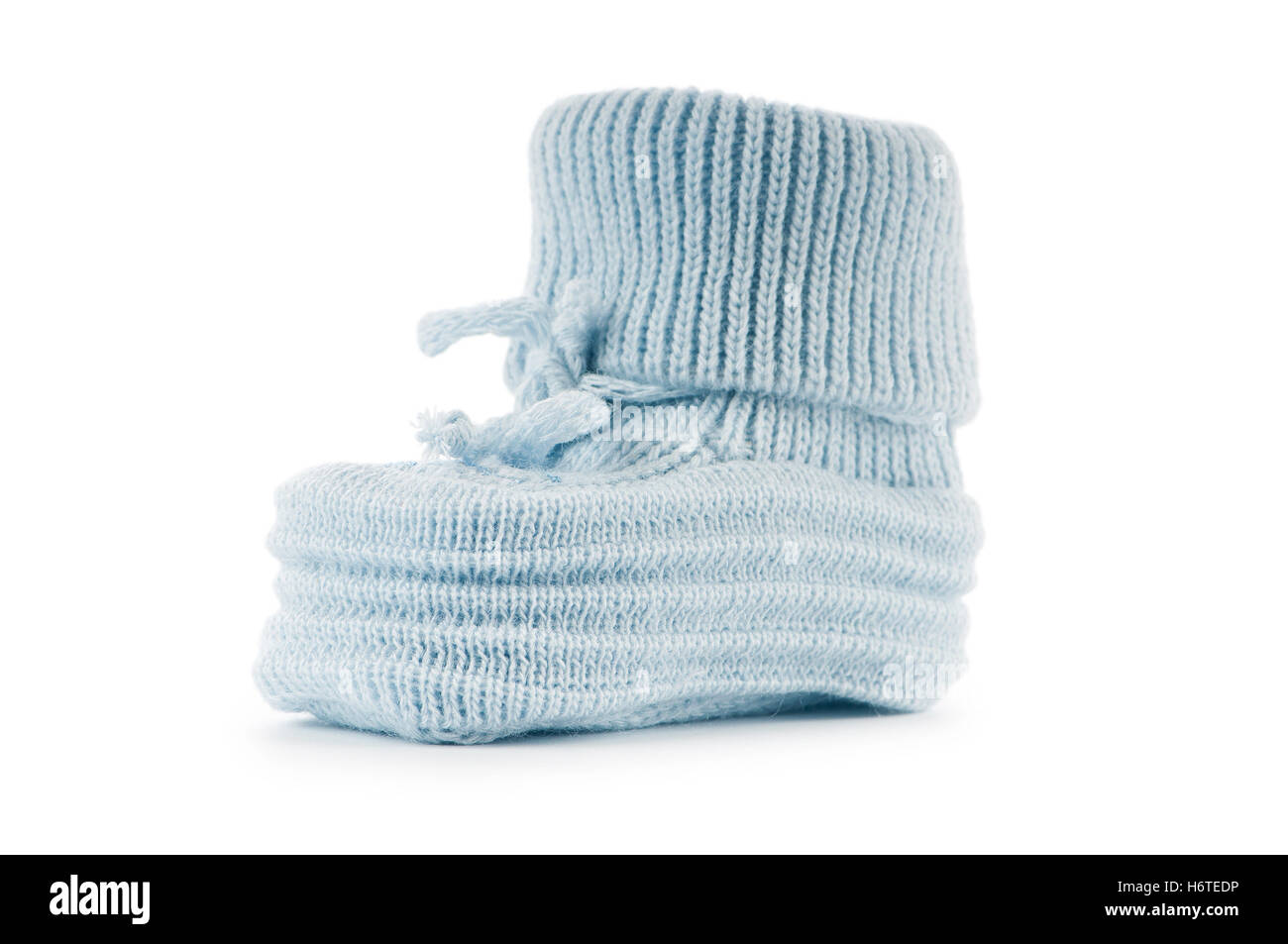 boot blue sport sports isolated fashion born colour new shoes small tiny little short baby foot feet gift gear clothes - Stock Image