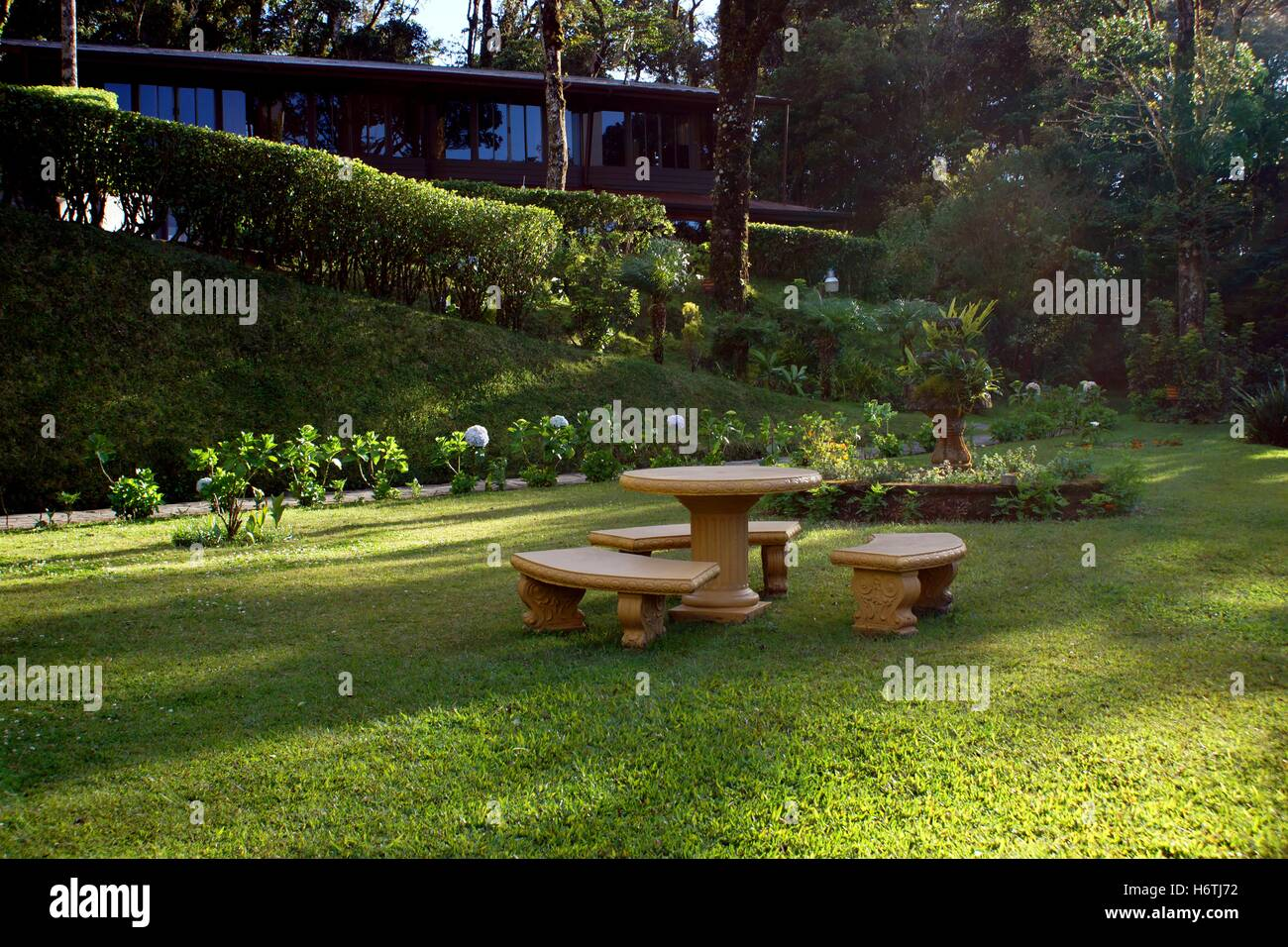 The territory of Trapp Family Lodge. Costa Rica, Province Puntarenas, Monteverde - Stock Image