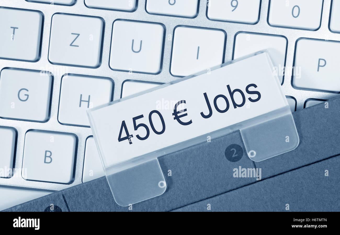 450 euro jobs - Stock Image