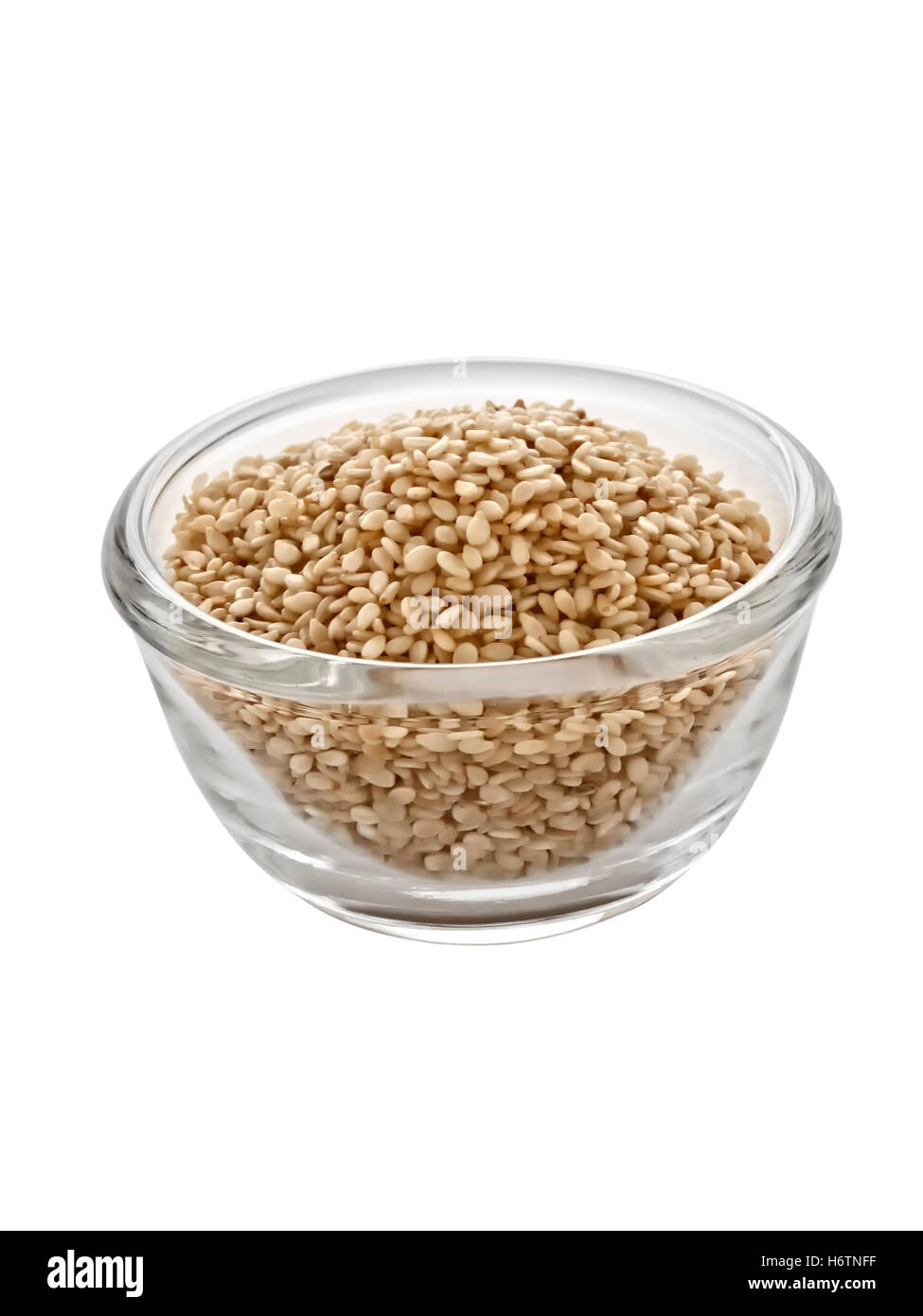 glass chalice tumbler food aliment isolated colour closeup vertical vegetable ingredients seed nobody emblements - Stock Image