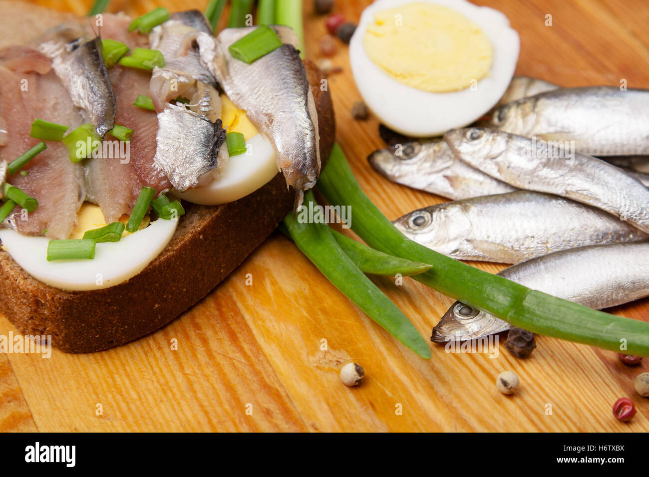 food aliment bread salt pepper wood shell silver freshness small tiny little short spring bouncing bounces hop skipping - Stock Image