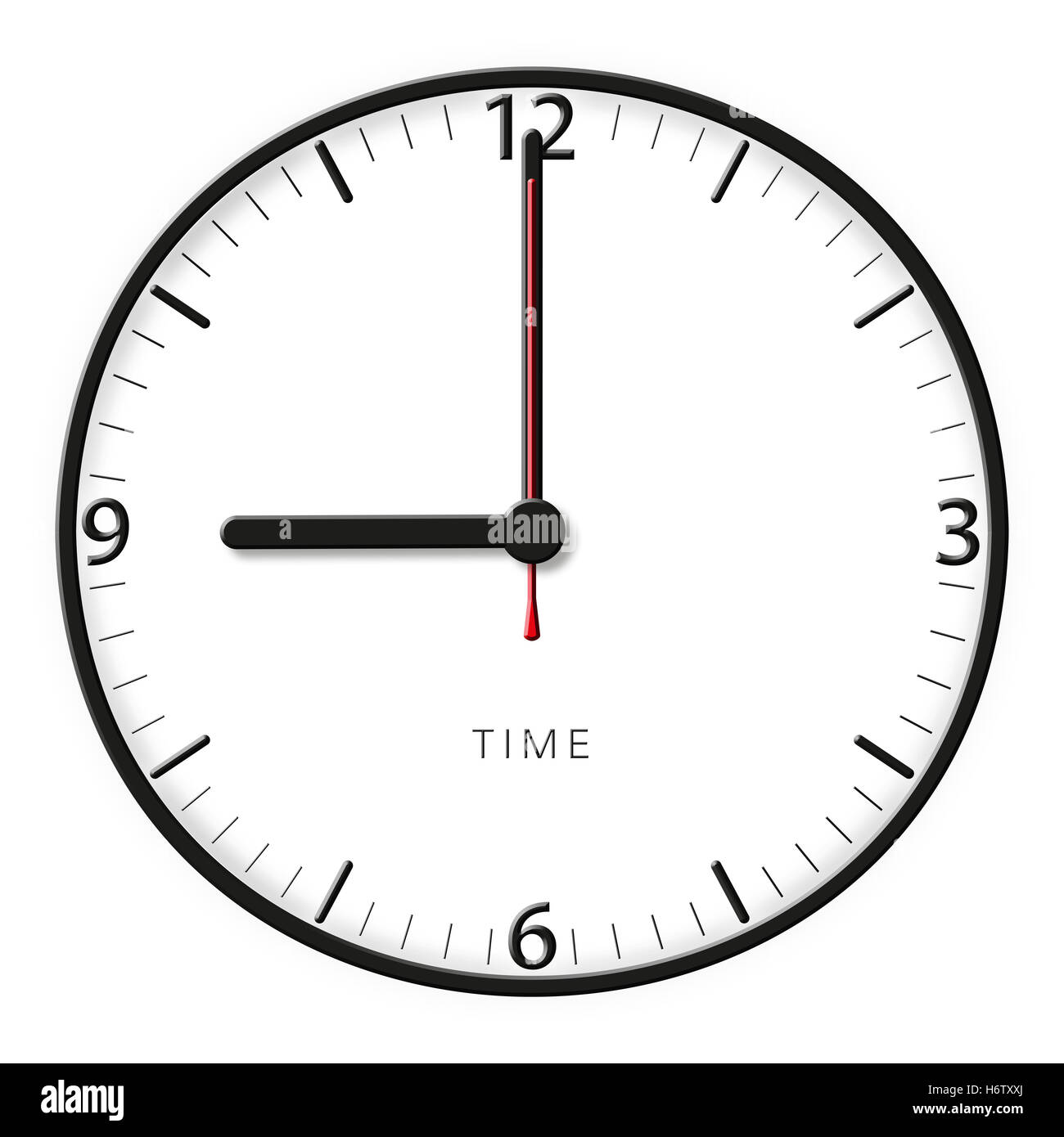 clock pointer time seconds minutes hours apples apple in the morning hour minute early drawing photo picture image - Stock Image