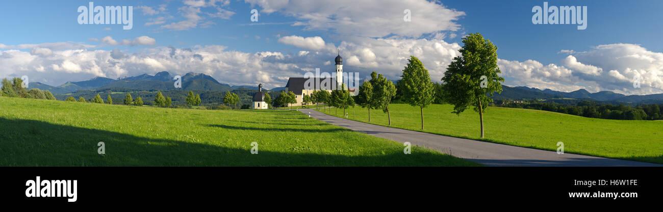 church holiday vacation holidays vacations alps summer summerly bavaria sightseeing germany german federal republic Stock Photo