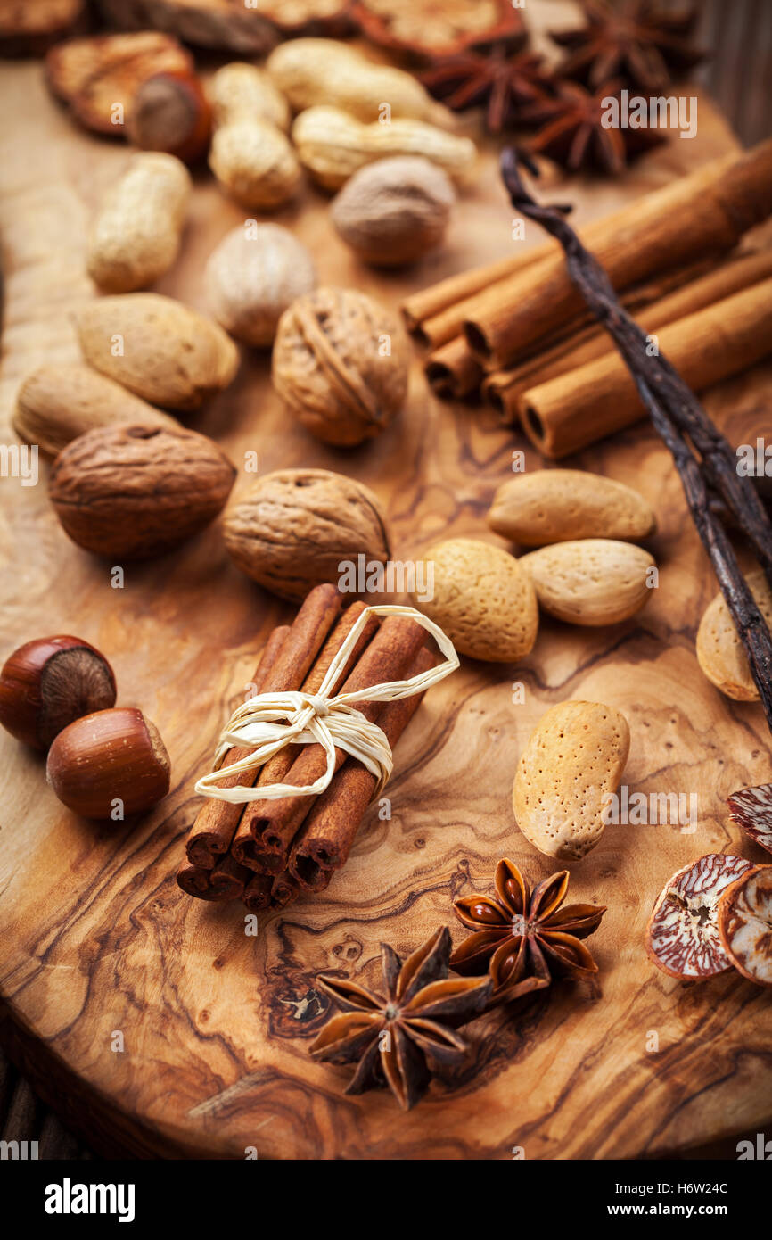 ingredients spices - Stock Image