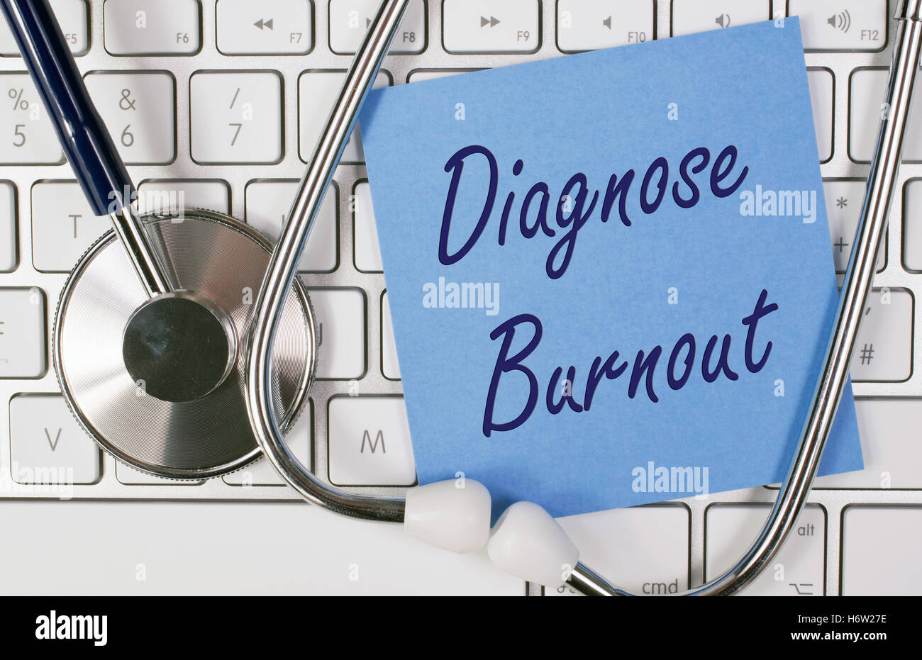 diagnosis burnout - Stock Image