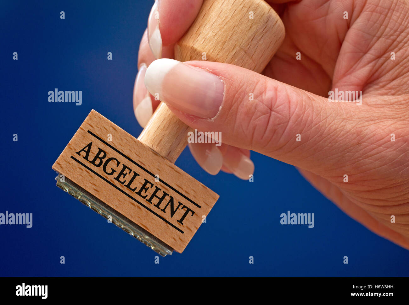 rejected - stempel mit hand Stock Photo