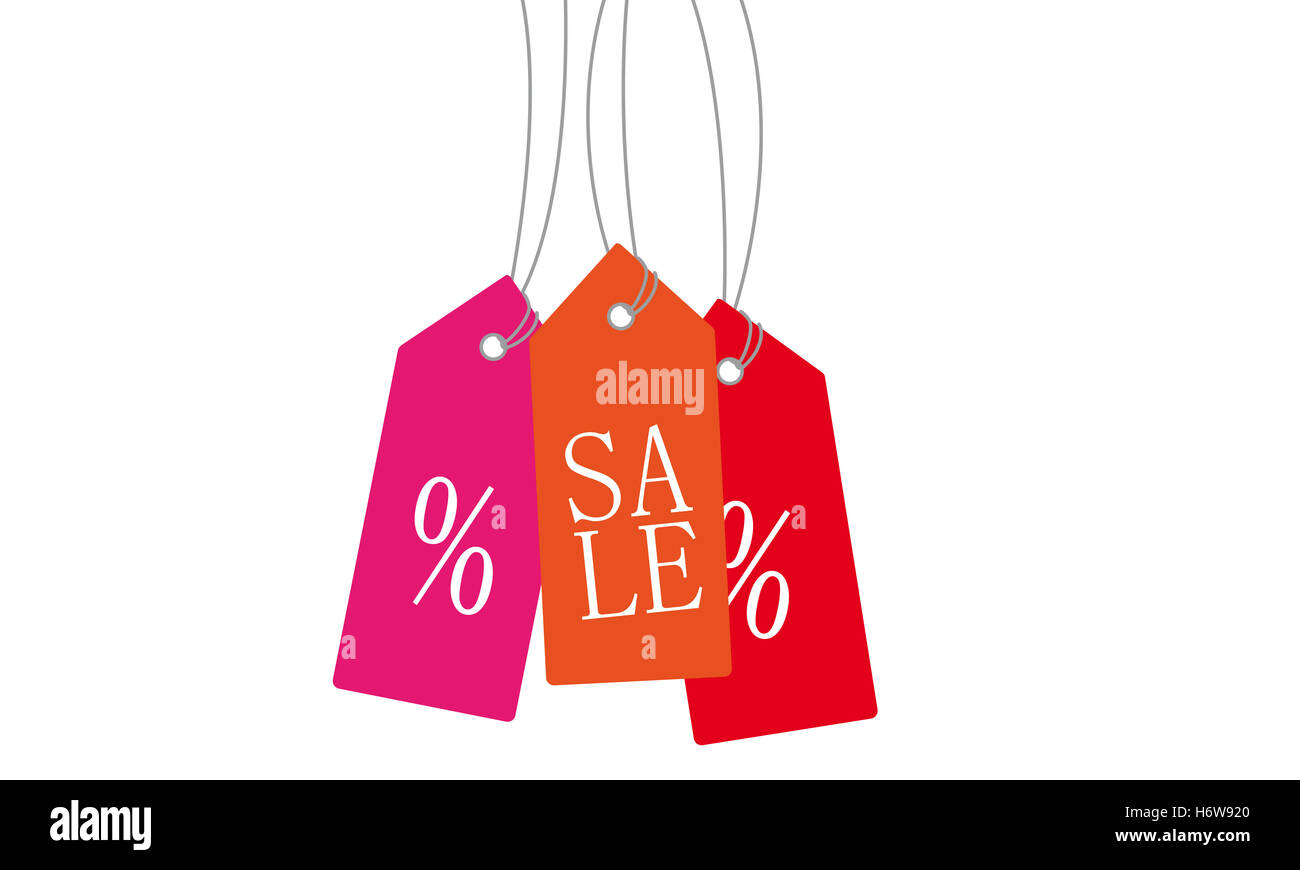 label offer percentage closing out sale halls discount fashion label offer price inexpensive cheap affordable percentage - Stock Image