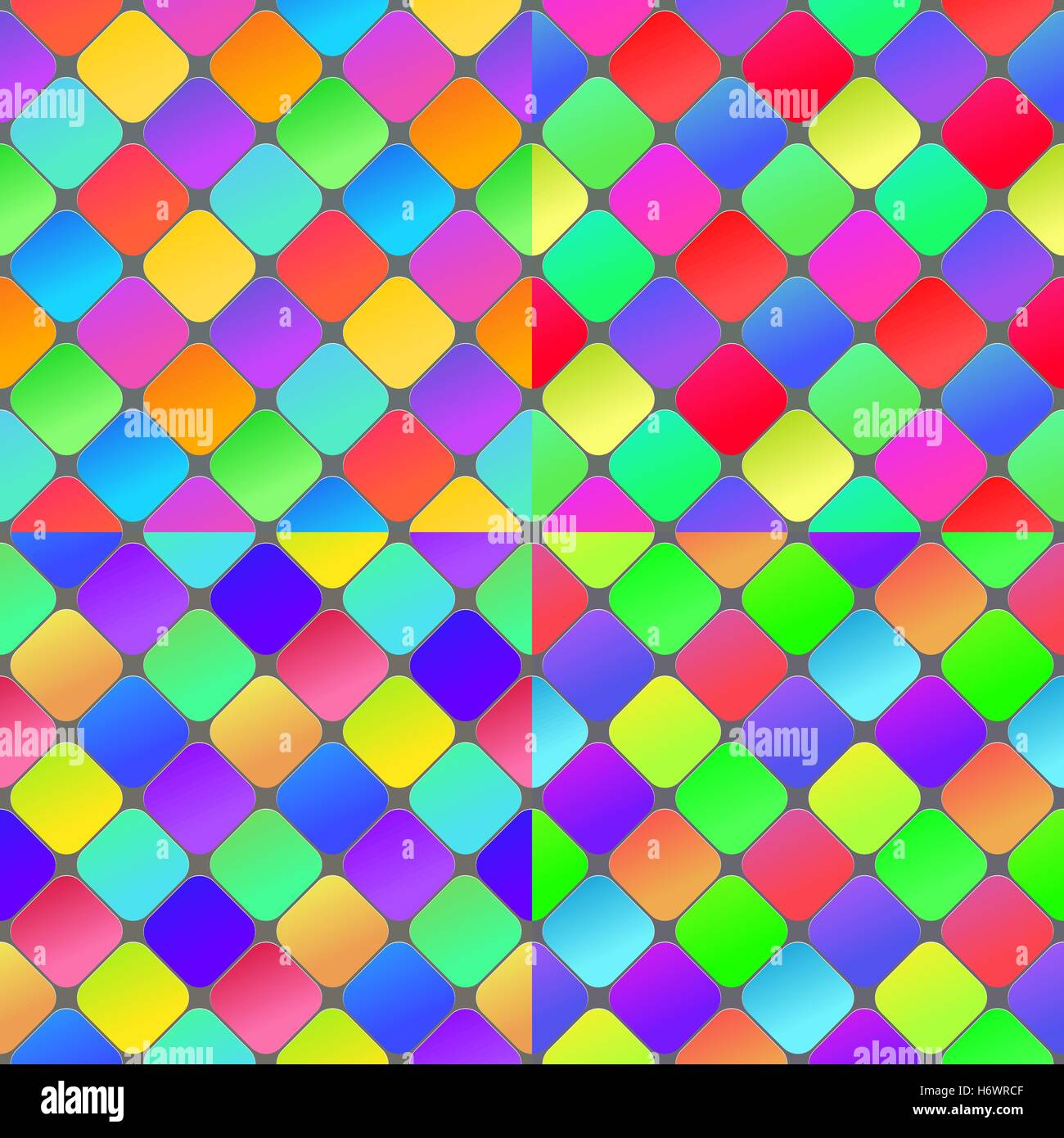 Colorful geometrical abstract seamless pattern background. Set of seamless vector patterns. Stock Vector