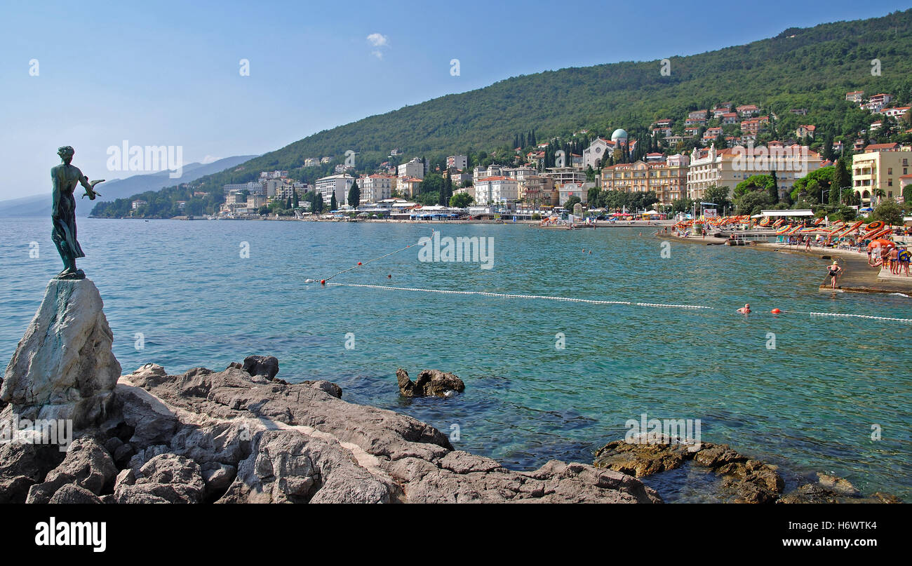 europe croatia istria tourism seaside resort travel holiday vacation holidays vacations tourism europe a trip goal - Stock Image