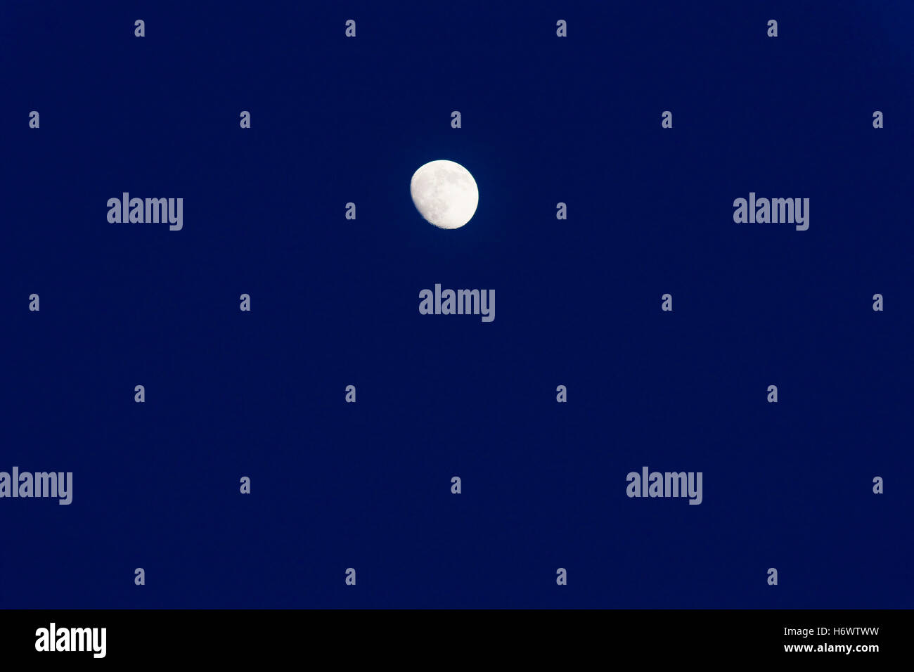 night nighttime moon evening outdoor outside dark backgrounds exterior firmament sky backdrop background outdoors - Stock Image