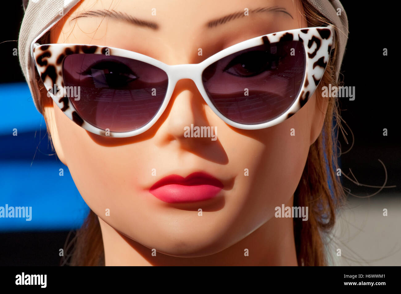 Mannequin with Eyeglasses - Stock Image