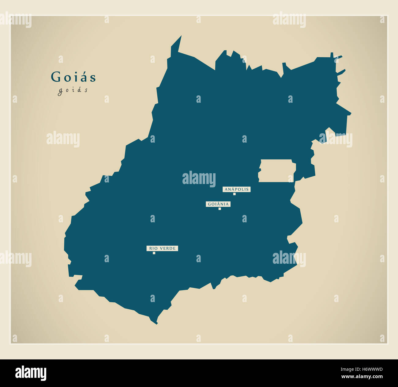 Modern Map - Goias BR - Stock Image