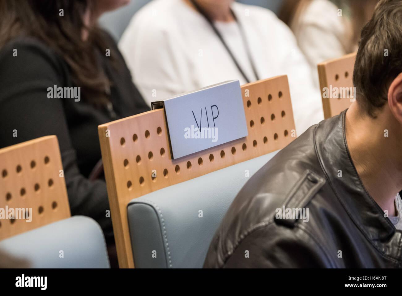 VIP seat at a hall - Stock Image