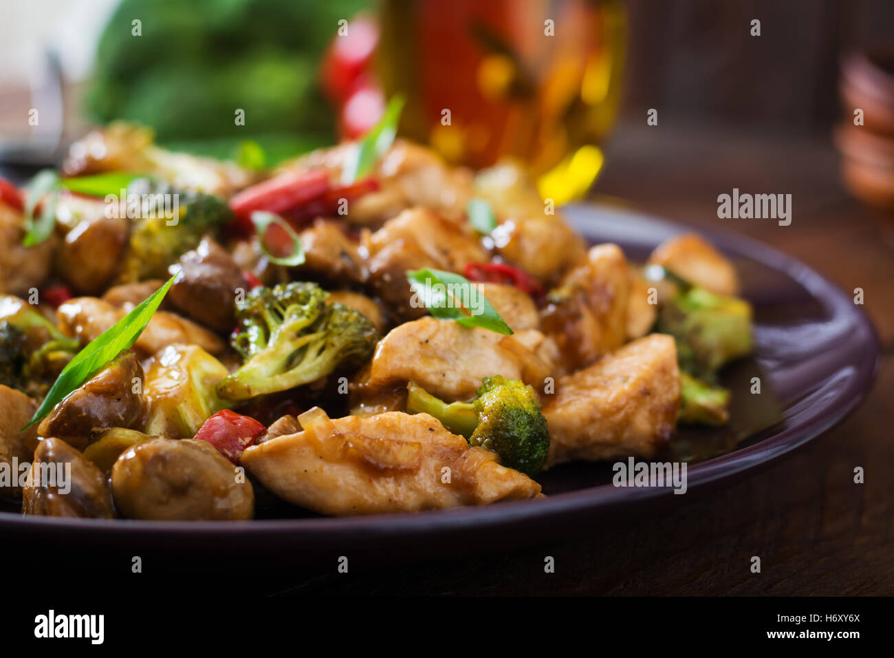Stir fry with chicken mushrooms broccoli and peppers chinese stir fry with chicken mushrooms broccoli and peppers chinese food forumfinder Image collections