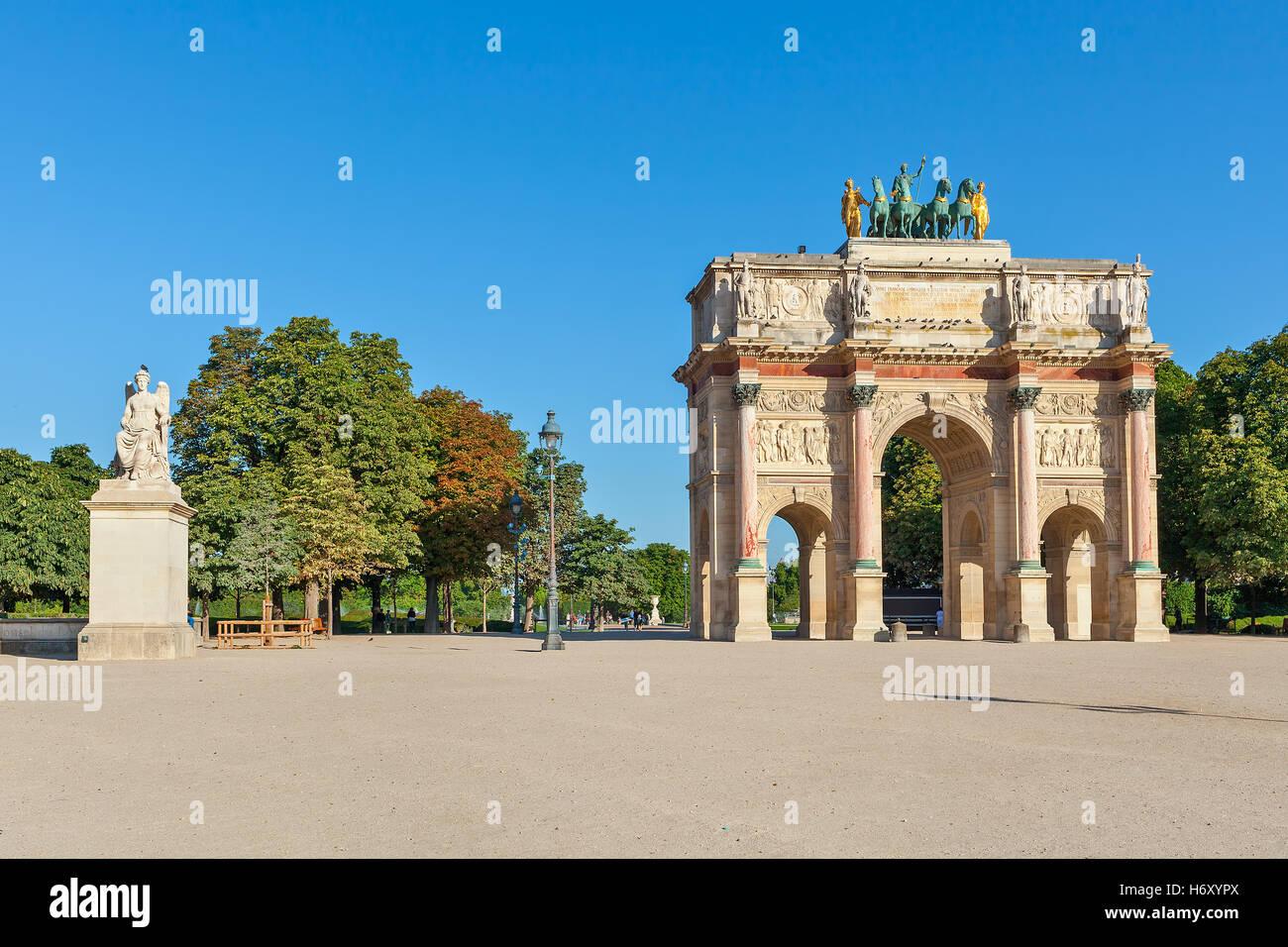 Arc de Triomphe du Carrousel in Paris, France. - Stock Image