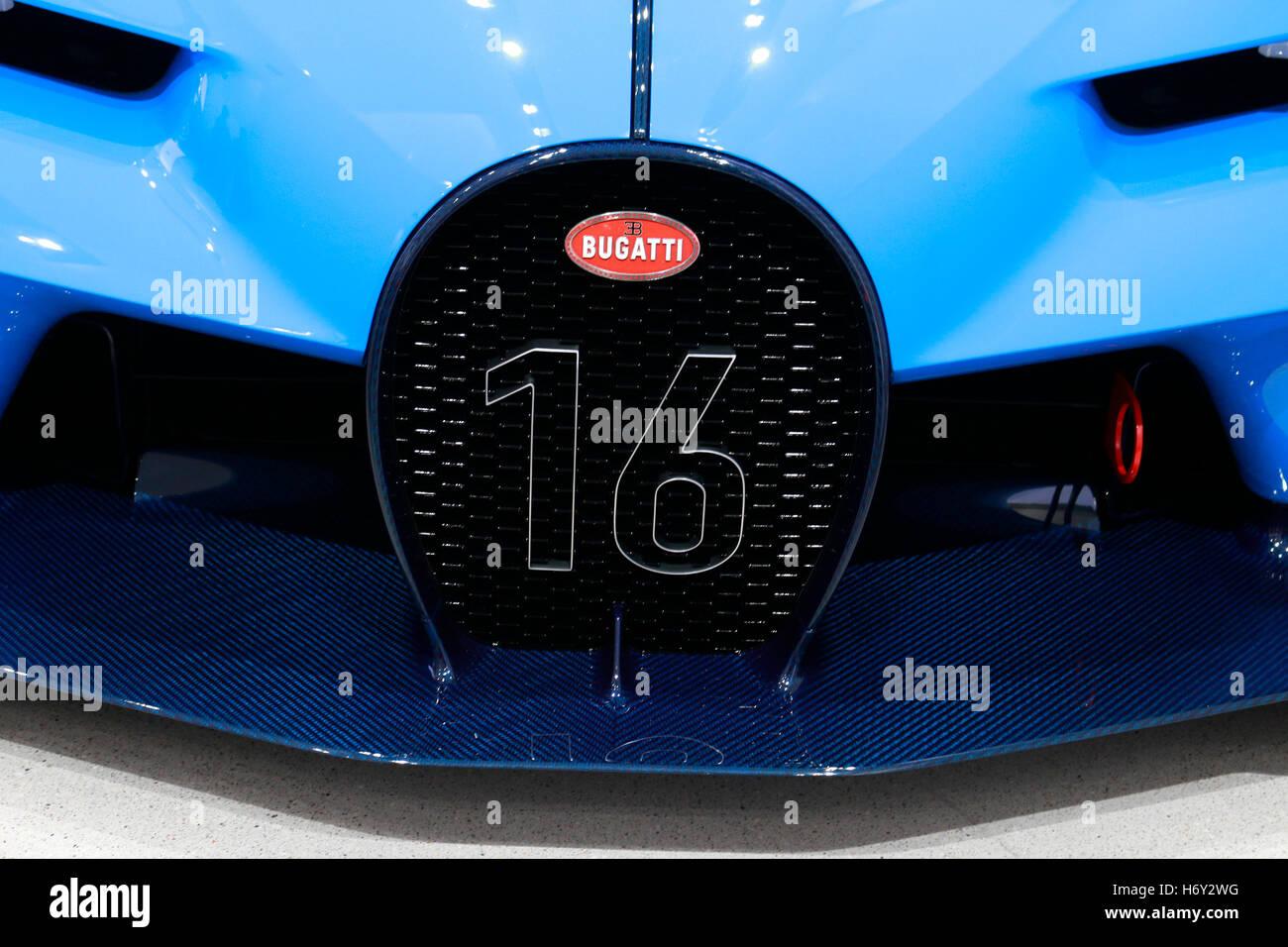 der Rennwagen Bugatti Vision Gran Turismo, Berlin. - Stock Image