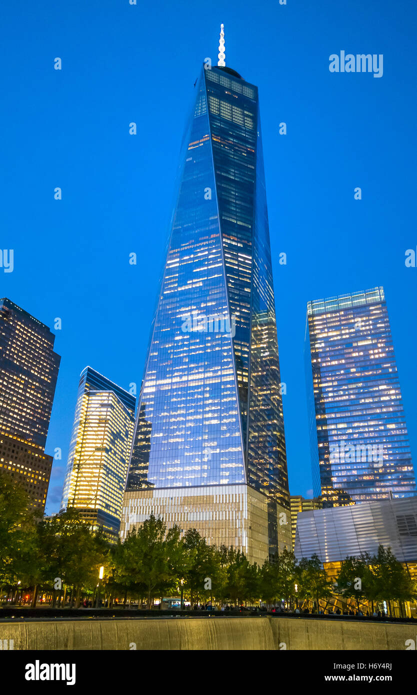 The Freedom Tower at the World Trade Center in Manhattan Financial District of New York City - Stock Image