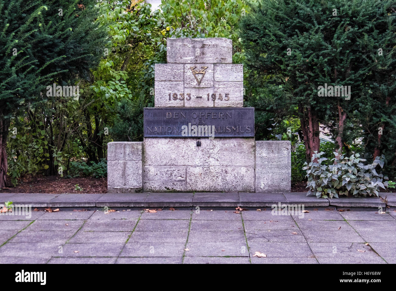 Berlin. The memorial stone for the victims of national socialism erected in 1953. Earliest West Berlin monument Stock Photo