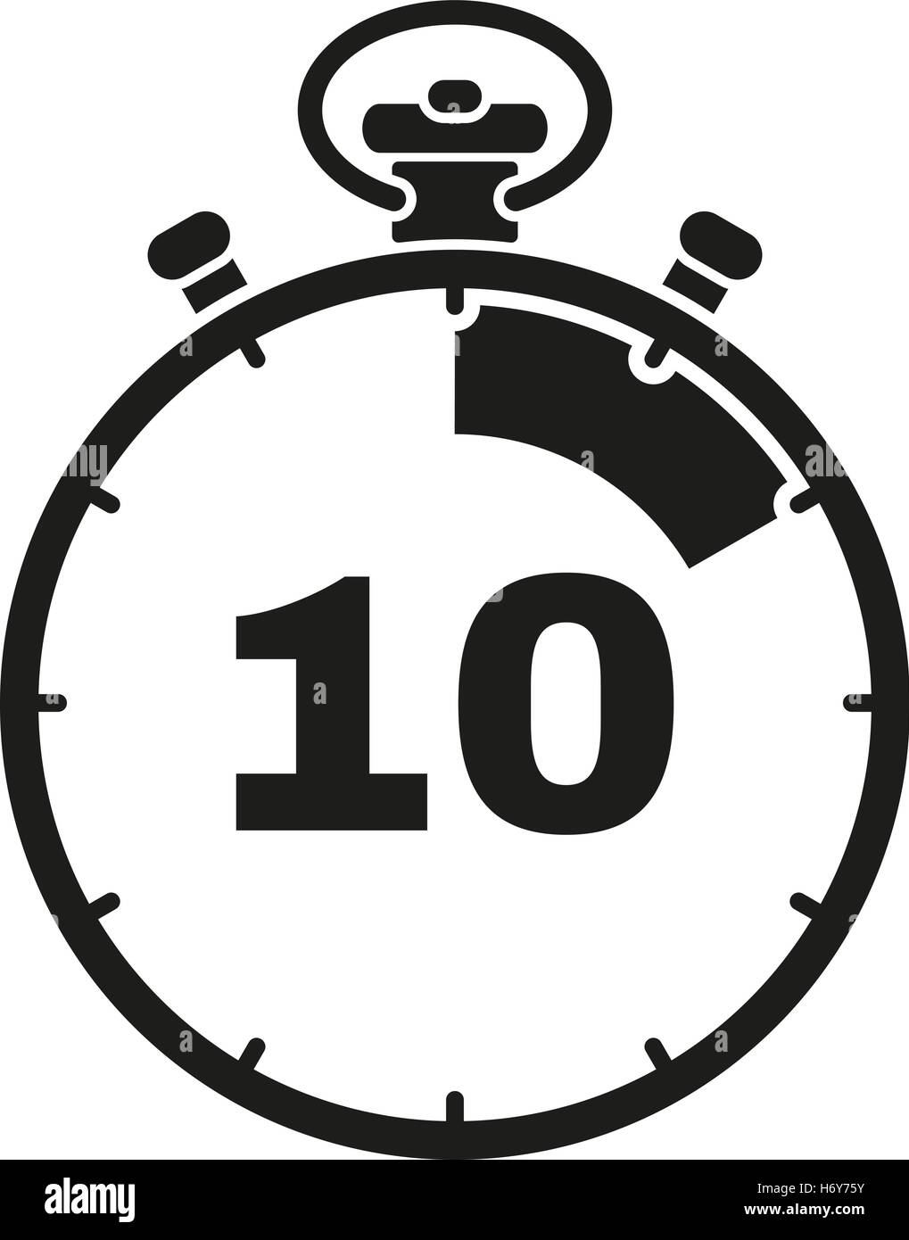 the 10 seconds minutes stopwatch icon clock and watch timer countdown symbol ui web logo sign flat design app stock v