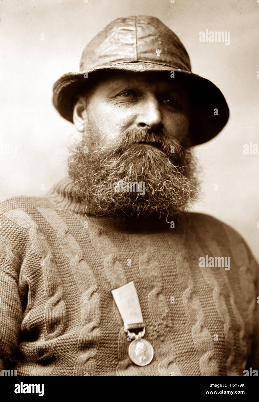 Henry Freeman, lifeboatman Whitby - Victorian period - Stock Image