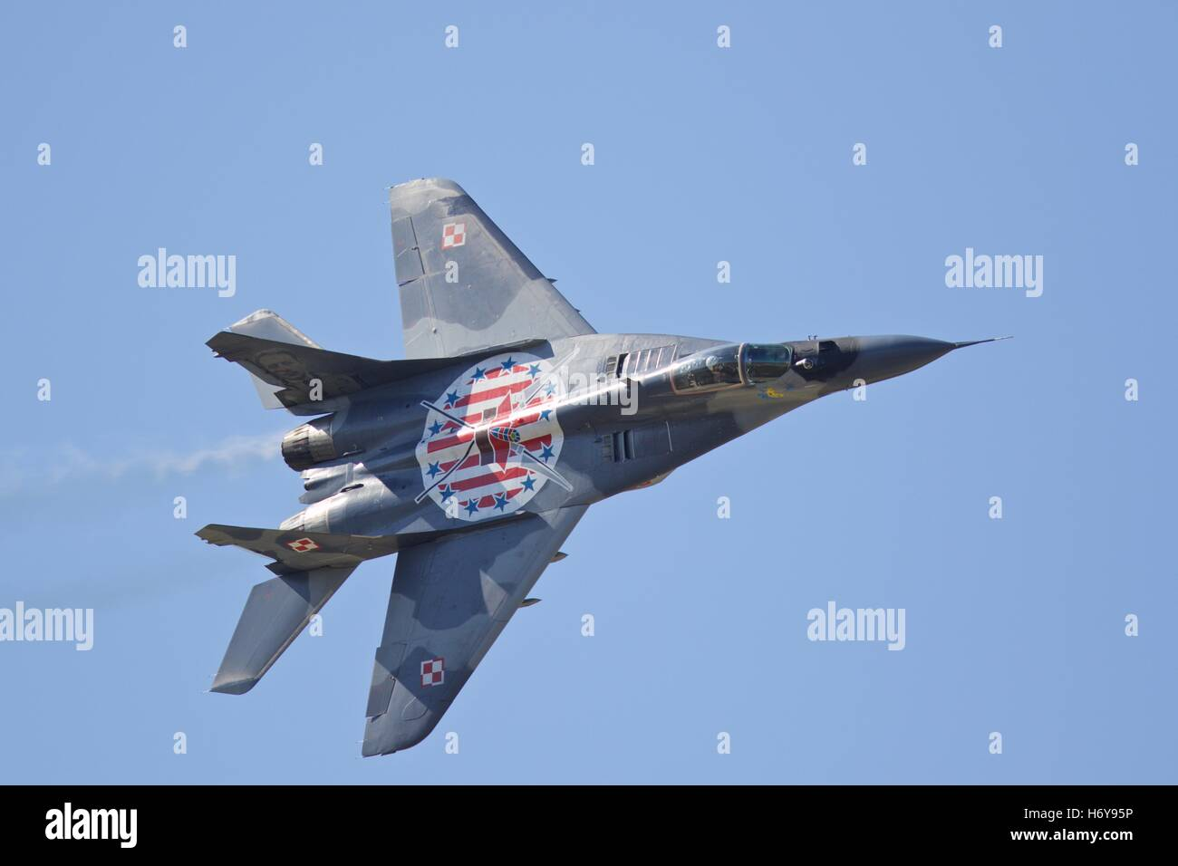A Polish Air Force Mikoyan MiG-29A Stock Photo