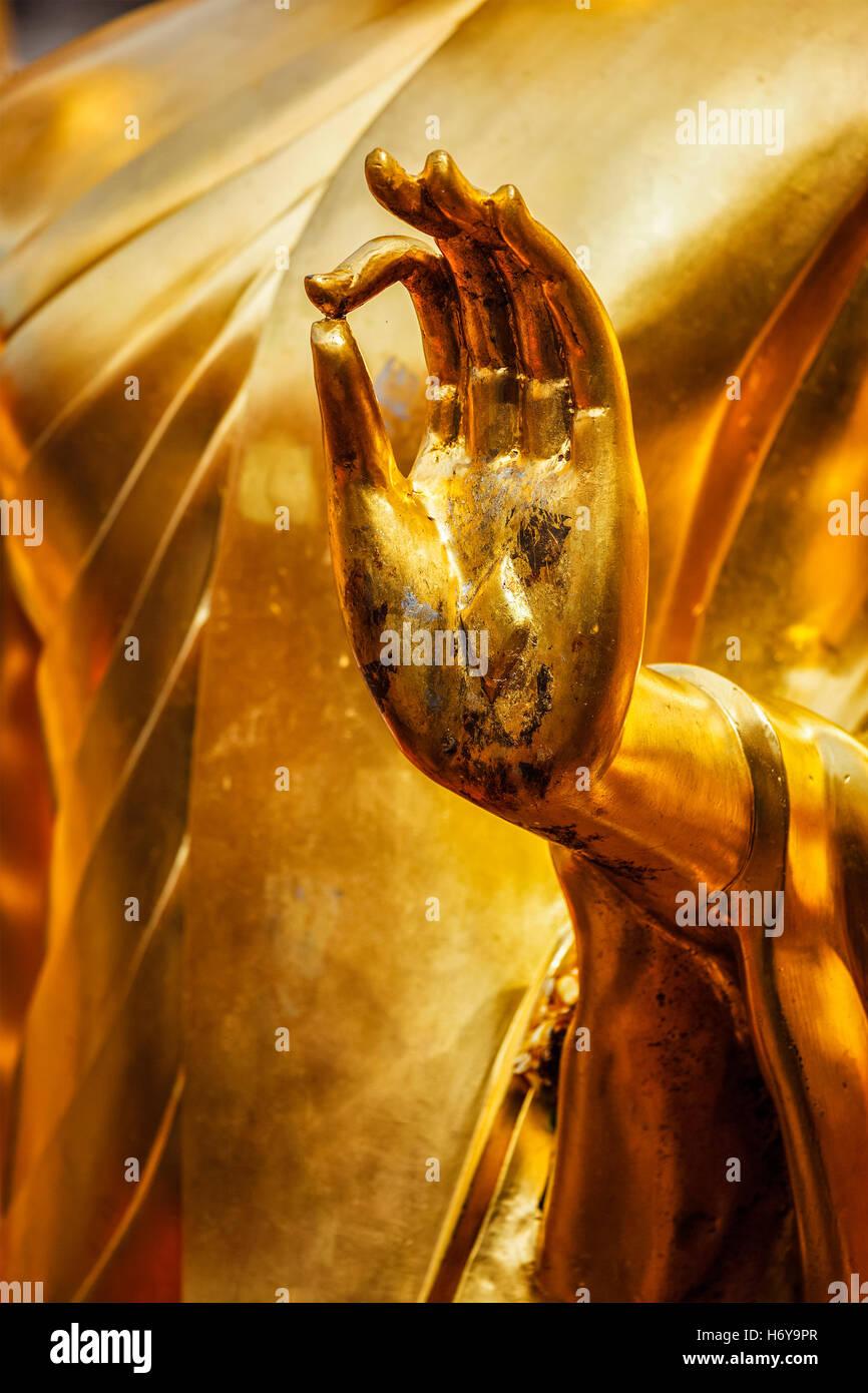 Buddha statue hand, Chiang Mai, Thailand - Stock Image