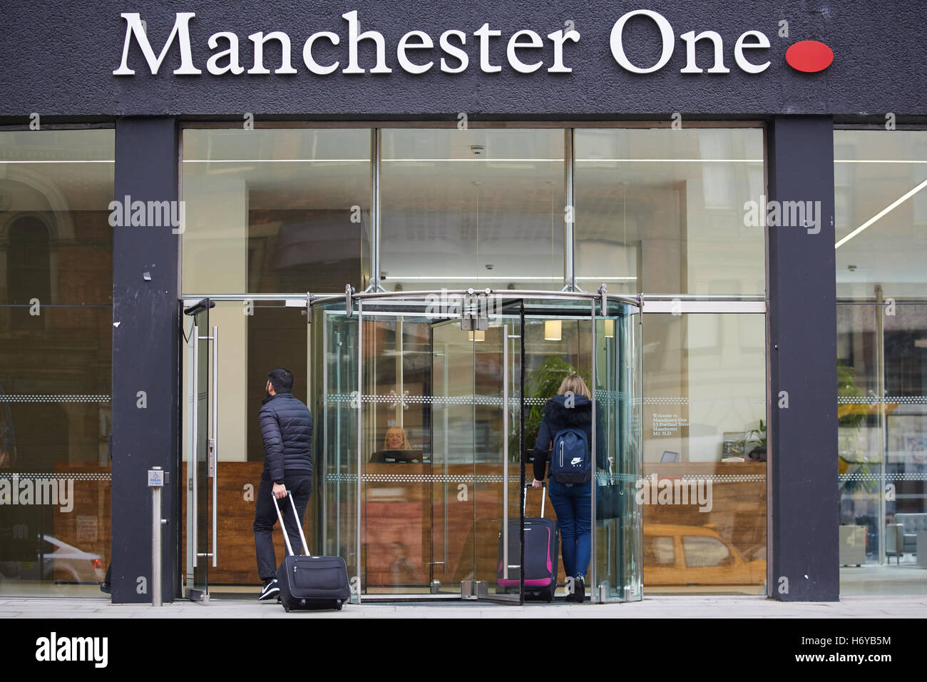Manchester One Office Entrance Doors Sign Office Space Development Stock Photo Alamy