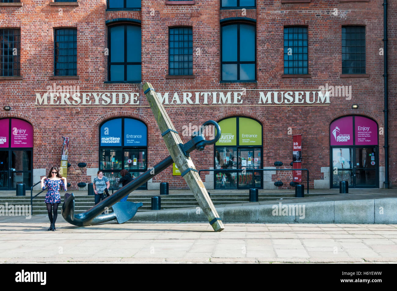 Merseyside Maritime Museum in the Albert Dock, Liverpool. - Stock Image
