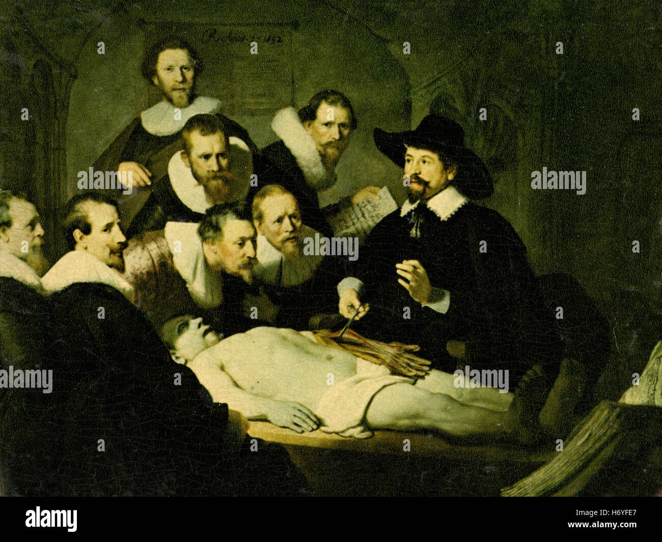 Anatomy Lesson, Rembrandt painting - Stock Image