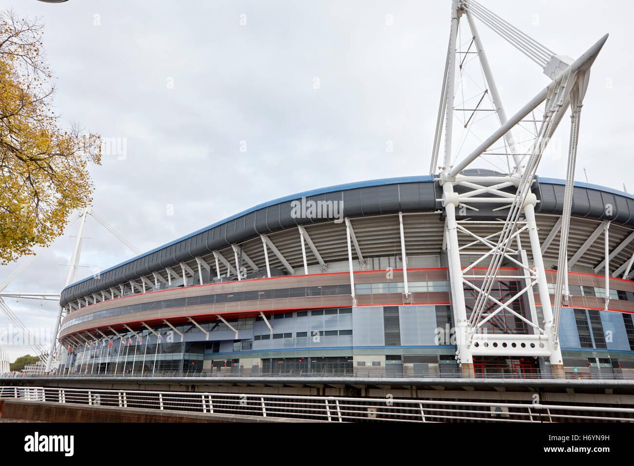 principality stadium formerly millennium stadium Cardiff Wales United Kingdom - Stock Image