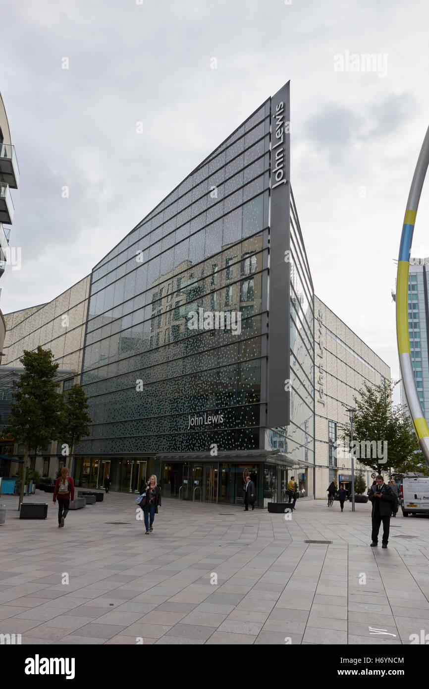 john lewis store in st davids dewi sant shopping area of Cardiff Wales United Kingdom - Stock Image