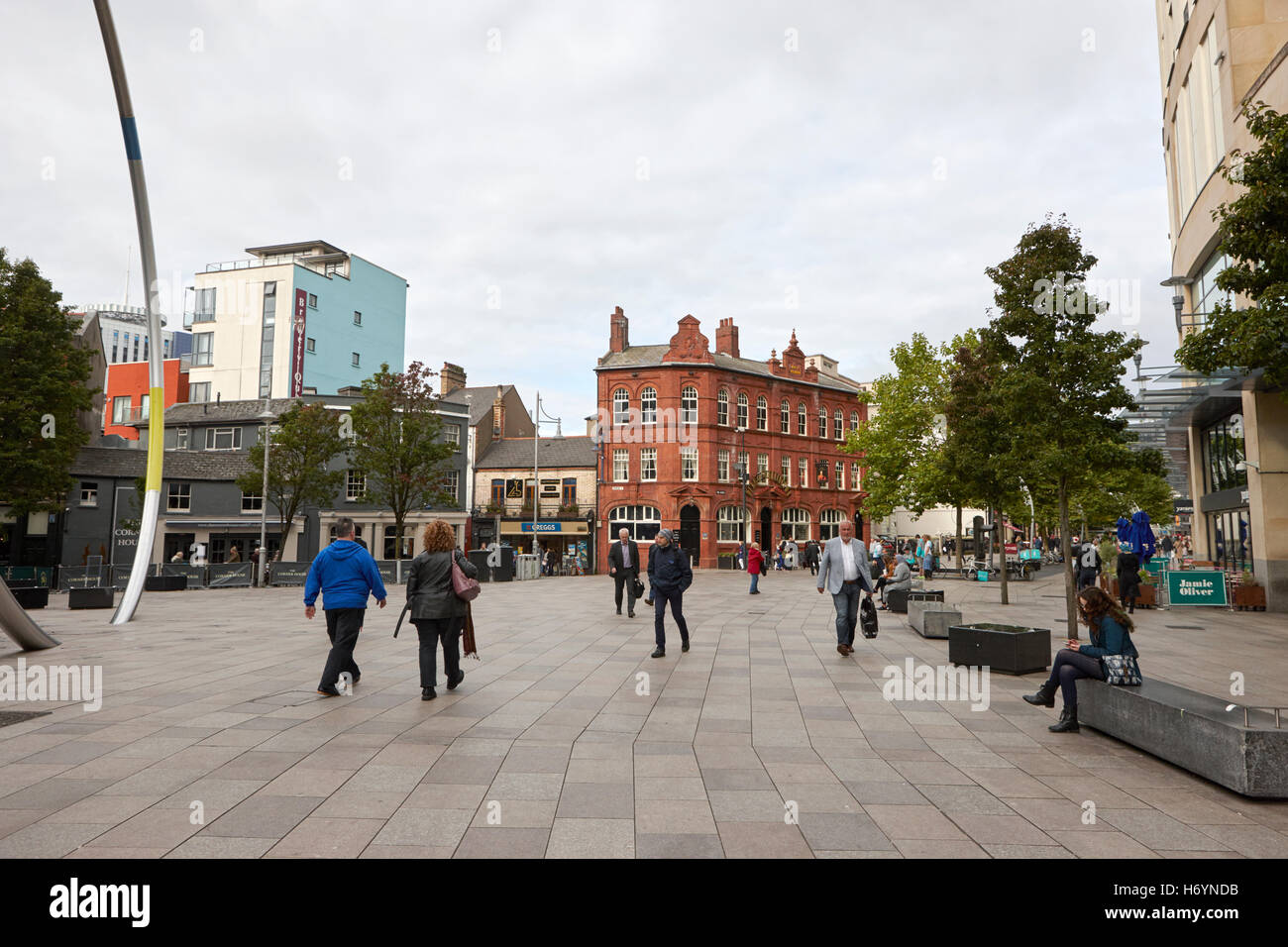 st davids dewi sant development the hayes Cardiff Wales United Kingdom - Stock Image