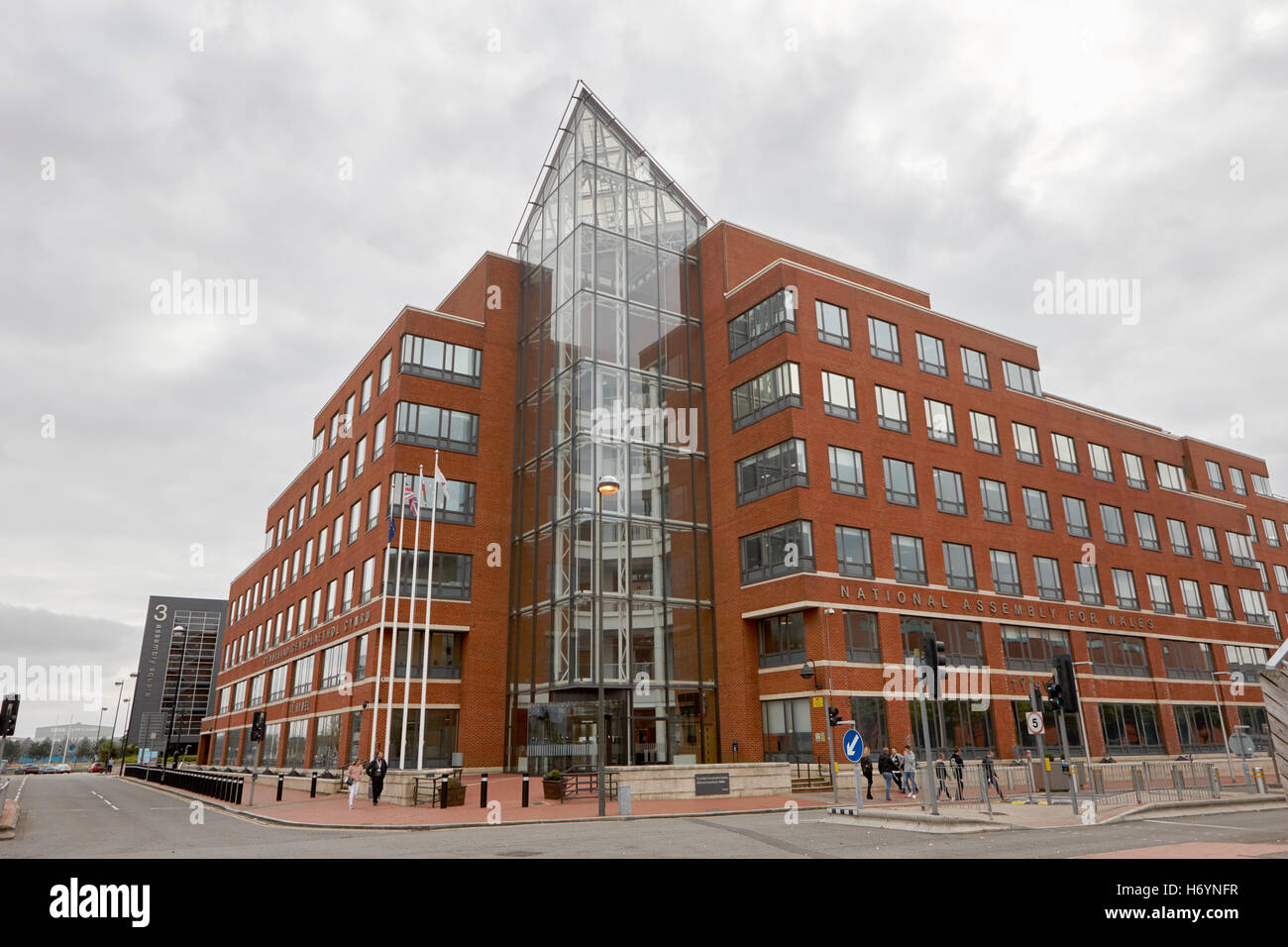 Ty Howell national assembly for wales building Cardiff Bay Wales United Kingdom - Stock Image