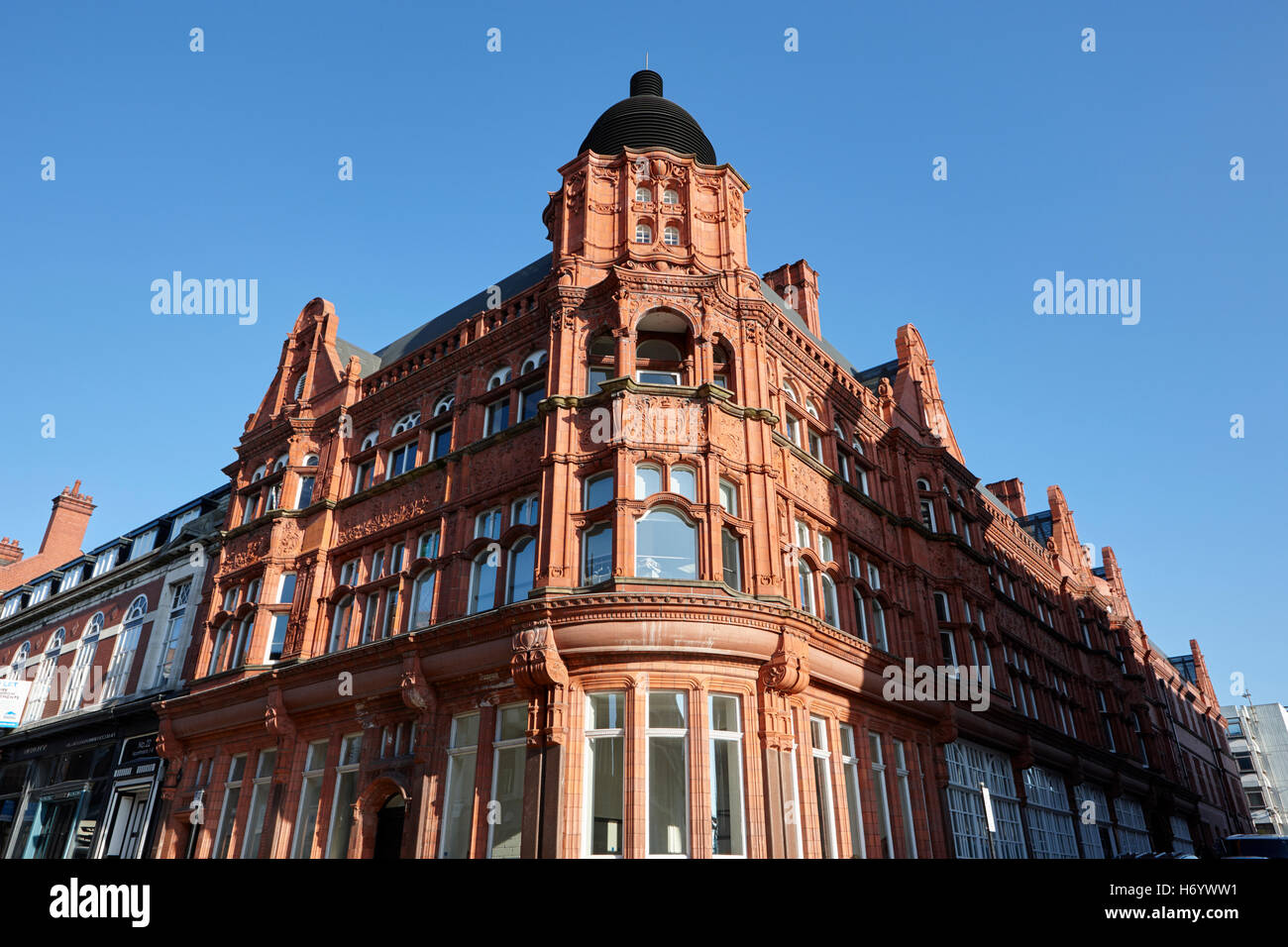 Wigan library former municipal building England United Kingdom - Stock Image