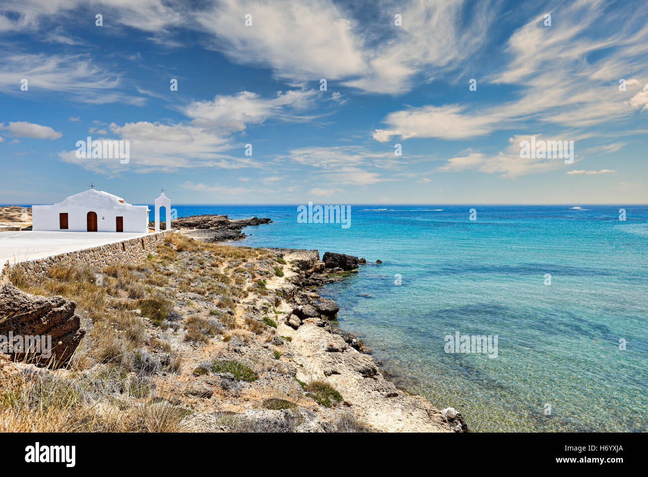 Agios Nikolaos in Zakynthos island, Greece - Stock Image