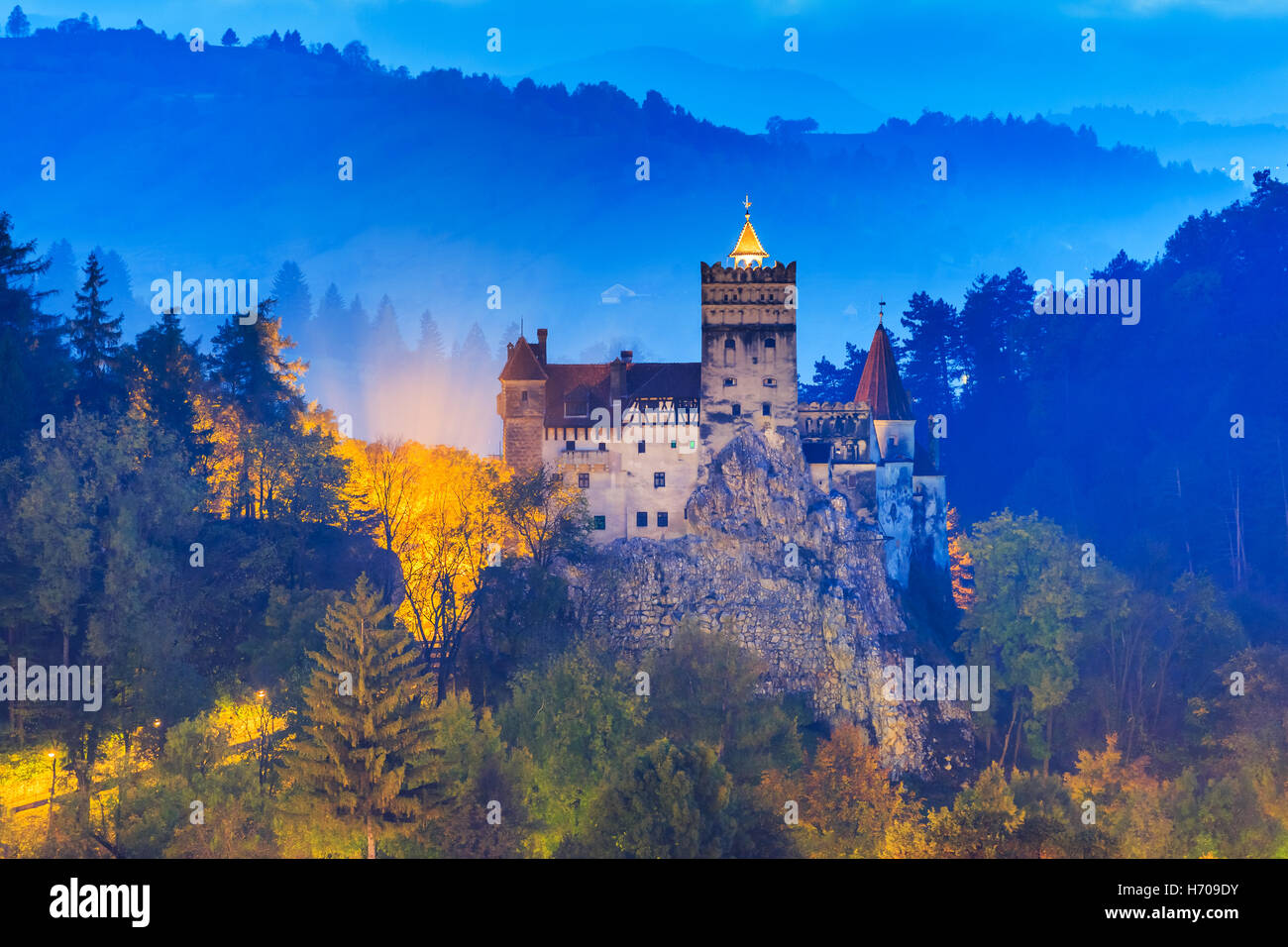 Brasov, Transylvania. Romania. The medieval Castle of Bran. - Stock Image
