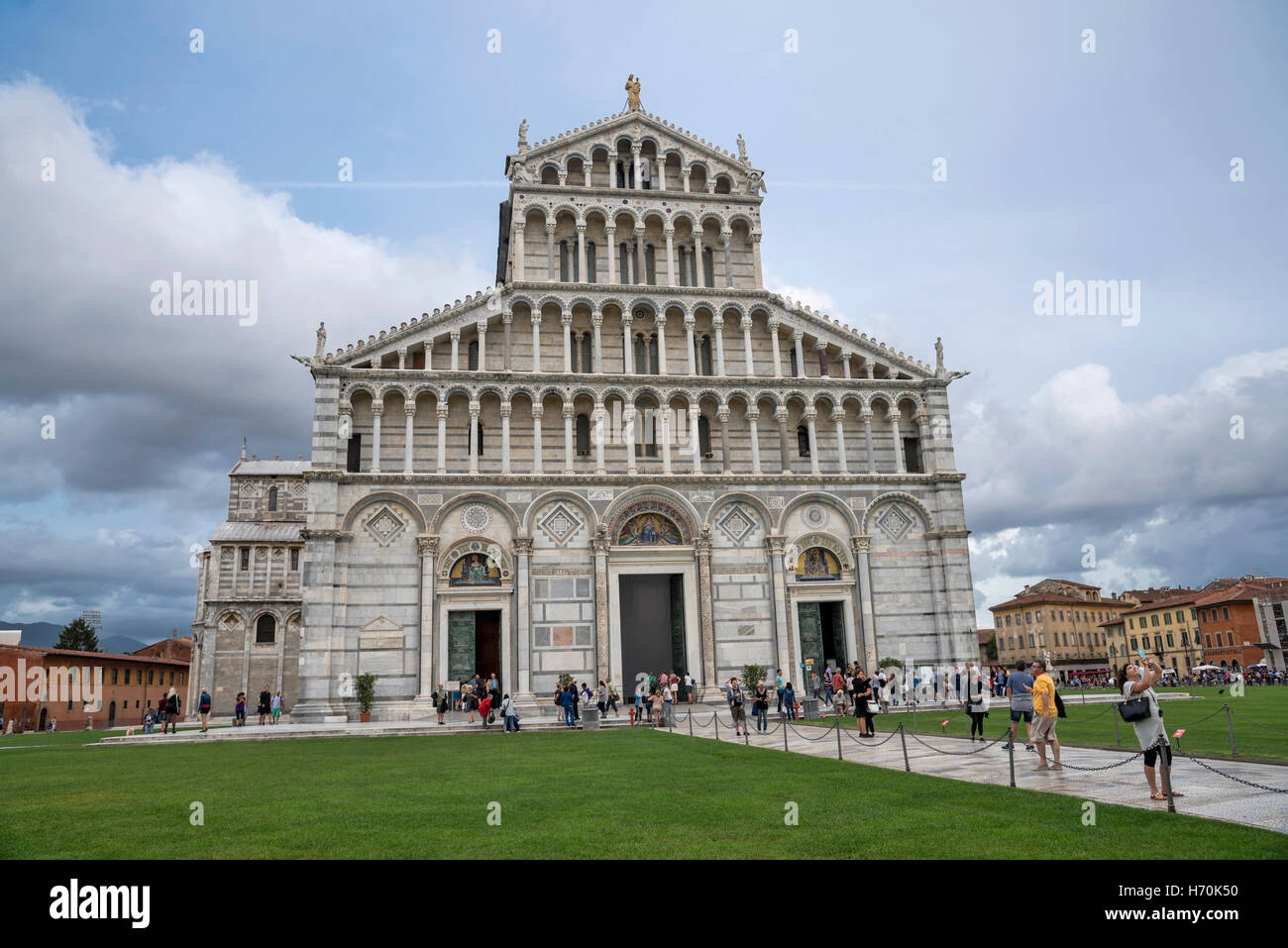 World famous Pisa Cathedral, façade, Pisa , city in Tuscany, Central Italy Stock Photo