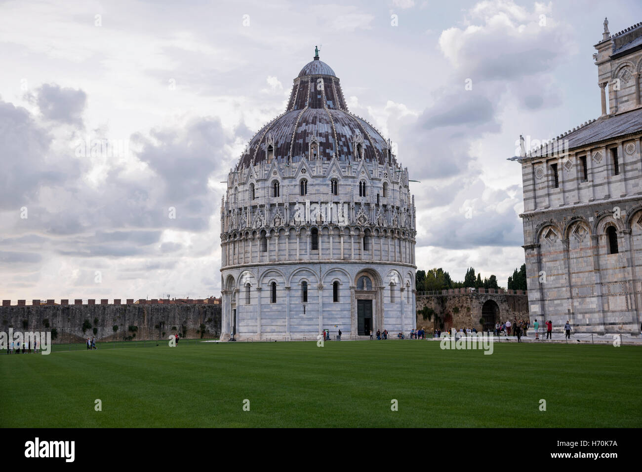 The Pisa Baptistery of St. John is a Roman Catholic ecclesiastical building in Pisa, city in Tuscany, Central Italy - Stock Image
