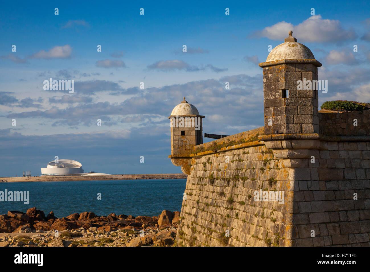 The Forte de Sao Francisco Xavier fort from 1832, Porto, UNESCO site, Portugal, Europe Stock Photo