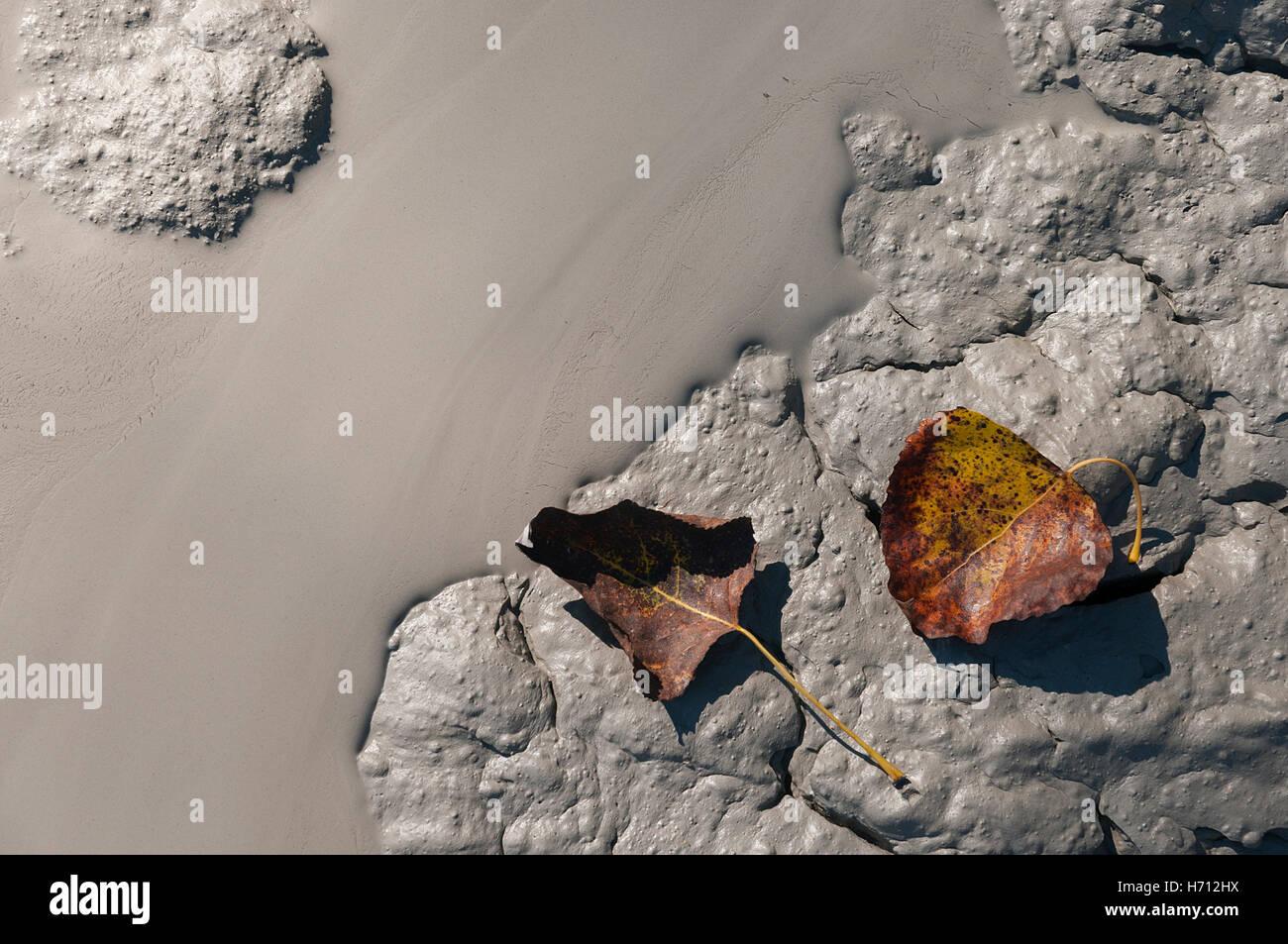 little volcano in Monteleone di Fermo called 'Vulcanelli' - Stock Image