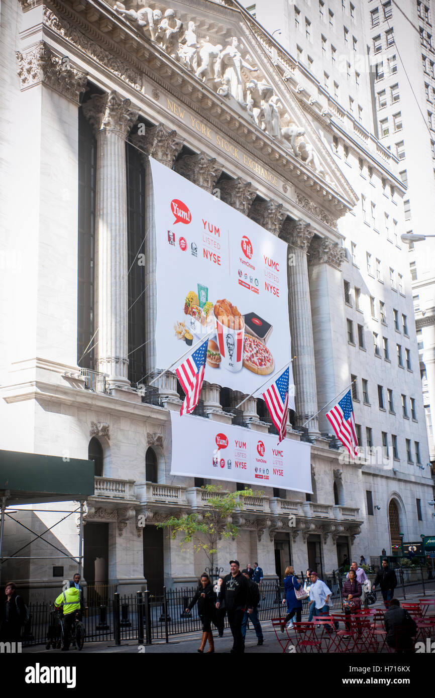 The New York Stock Exchange Is Decorated For The First Day Of