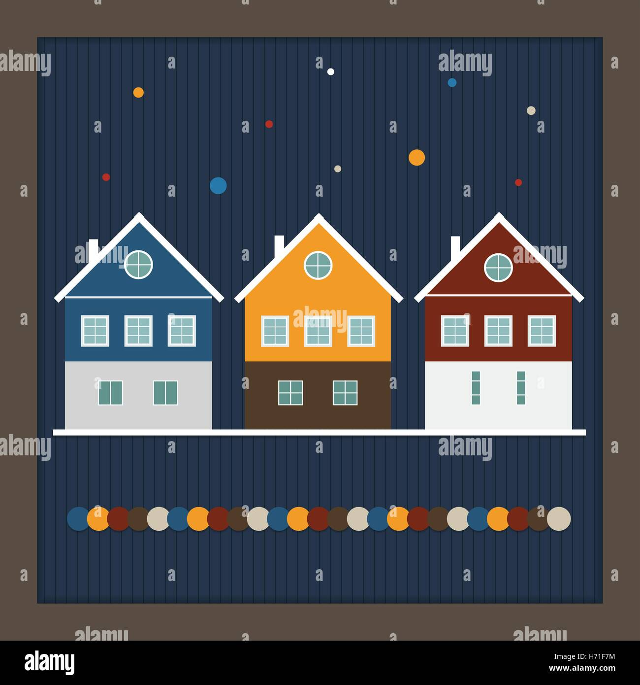 Real Estate Christmas Card Colorful Stock Photos Real Estate